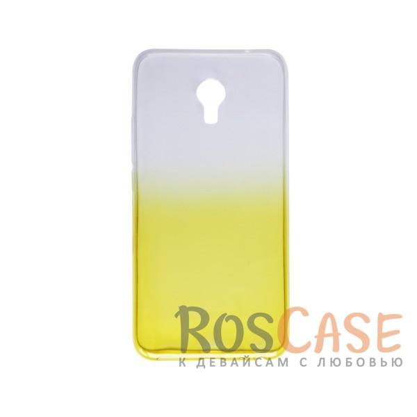 Фотография Желтый Прозрачный TPU чехол с цветным градиентом для Meizu MX6