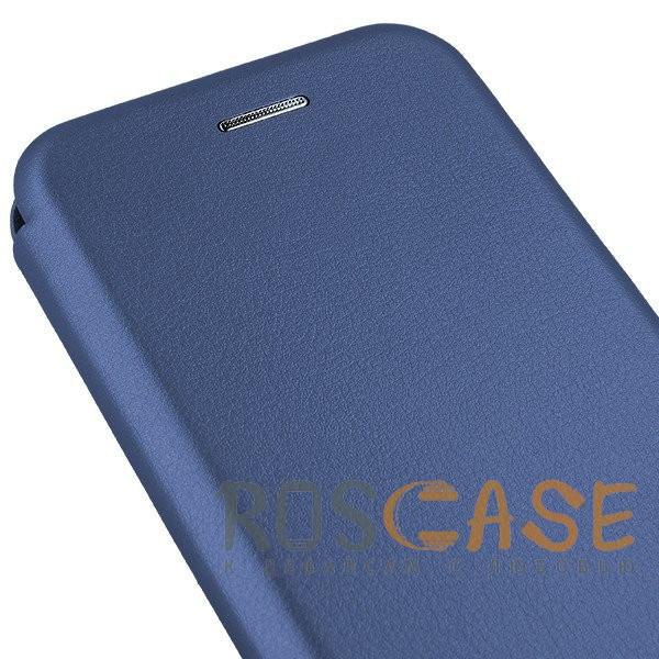 Фотография Синий Open Color | Чехол-книжка для Samsung A520 Galaxy A5 (2017) с функцией подставки и магнитом
