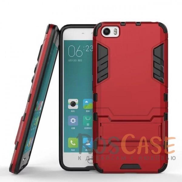 Ударопрочный чехол-подставка Transformer для Xiaomi MI5 / MI5 Pro с мощной защитой корпуса (Красный / Dante Red)Описание:подходит для Xiaomi MI5 / MI5 Pro;материалы: термополиуретан, поликарбонат;формат: накладка.&amp;nbsp;Особенности:функциональные вырезы;функция подставки;двойная степень защиты;защита от механических повреждений;не скользит в руках.<br><br>Тип: Чехол<br>Бренд: Epik<br>Материал: TPU
