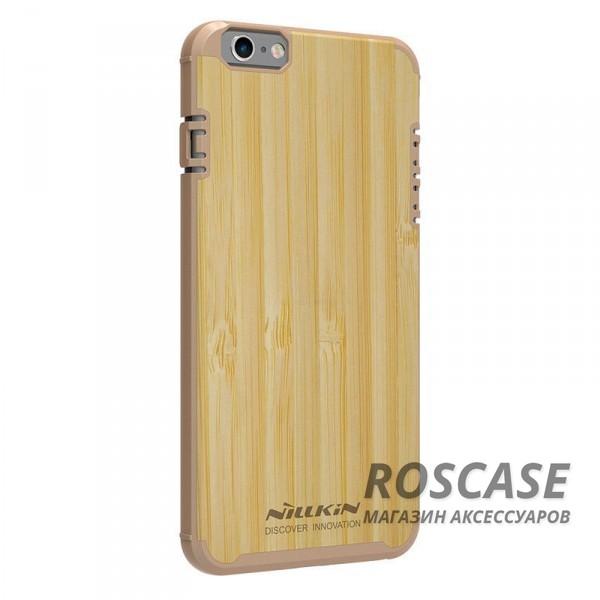 Деревянная накладка Nillkin Knights Series для Apple iPhone 6/6s (4.7) (Золотой)Описание:от бренда&amp;nbsp;Nillkin;разработана для Apple iPhone 6/6s (4.7);материалы  -  поликарбонат, бамбук;формат  -  накладка.&amp;nbsp;Особенности:покрытие из натурального бамбука;защита от механических повреждений;в наличии функциональные вырезы;встроенная металлическая пластина для использования автодержателя;неповторимая фактура дерева (у каждой накладки разная).<br><br>Тип: Чехол<br>Бренд: Nillkin<br>Материал: Поликарбонат