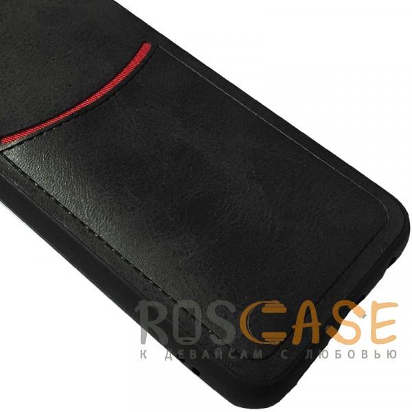 Фотография Черный ILEVEL | Чехол с кожаным покрытием и с карманом-визитницей для Huawei Honor 10