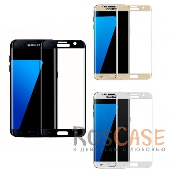 Защитное стекло с цветной рамкой на весь экран с олеофобным покрытием анти-отпечатки для Samsung G935F Galaxy S7 EdgeОписание:компания&amp;nbsp;Epik;совместимо с Samsung G935F Galaxy S7 Edge;материал: закаленное стекло;тип: защитное стекло на экран.Особенности:полностью закрывает дисплей;толщина - 0,3 мм;цветная рамка;прочность 9H;покрытие анти-отпечатки;защита от ударов и царапин.<br><br>Тип: Защитное стекло<br>Бренд: Epik