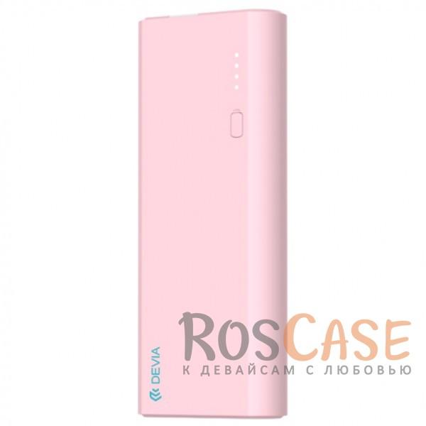 Фото Розовый Devia | Портативное зарядное устройство Power Bank 10000mAh 2 USB 2.4 A со встроенным фонариком