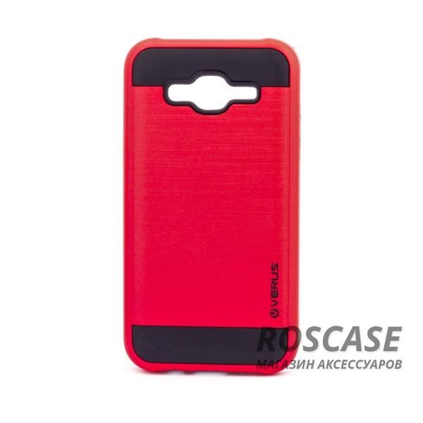 Двухслойный ударопрочный чехол с защитными бортами экрана Verge для Samsung J500H Galaxy J5 (Красный)Описание:совместимость  -  смартфон Samsung J500H Galaxy J5;материал для изготовления  -  поликарбонат, термопластичный полиуретан;тип изделия  -  чехол-накладка.Особенности:надежно фиксируется и трансформируется в подставку;имеет покрытие против пятен и отпечатков пальцев;не деформируется;имеет все функциональные вырезы;просто чистится от загрязнений.&amp;nbsp;<br><br>Тип: Чехол<br>Бренд: Epik<br>Материал: Пластик