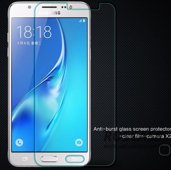 Защитное стекло Nillkin Anti-Explosion Glass (H) для Samsung J510F Galaxy J5 (2016)Описание:компания&amp;nbsp;Nillkin;создано для Samsung J510F Galaxy J5 (2016);материал: закаленное стекло;тип: защитное стекло.&amp;nbsp;Особенности:повторяет форму экрана;тонкое и прозрачное;покрытие анти-блик;твердость - 9H;толщина - &amp;nbsp;0,3 мм;защита от ударов и царапин;олеофобное покрытие;в комплекте пленка на камеру.<br><br>Тип: Защитное стекло<br>Бренд: Nillkin