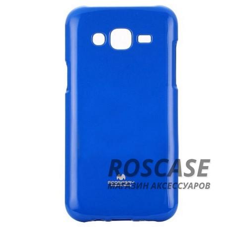 TPU чехол Mercury Jelly Color series для Samsung J500H Galaxy J5 (Синий)Описание:производитель  -  Mercury;совместим с Samsung J500H Galaxy J5;форм-фактор  -  накладка;материал - термополиуретан.Особенности:отличная защита гаджета от повреждений;поверхность  -  глянцевая;функционал  -  доступ к кнопкам, портам, проемы под камеру и динамик;ультратонкая.<br><br>Тип: Чехол<br>Бренд: Mercury<br>Материал: TPU