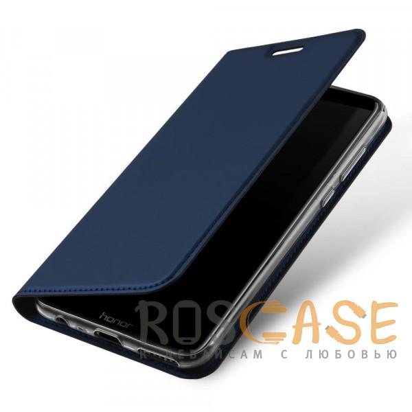 Фото Синий Dux Ducis | Чехол-книжка для Huawei Honor 9 Lite с функцией подставки и картхолдером
