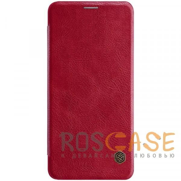 Фото Красный Nillkin Qin натур. кожа | Чехол-книжка для Samsung Galaxy A8 Star (A9 Star)