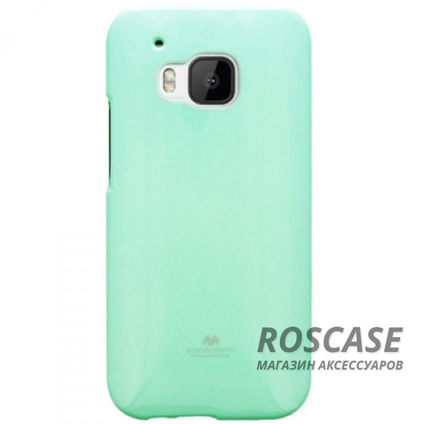 фото Бирюзовый TPU чехол Mercury Jelly Color series для HTC One / M9