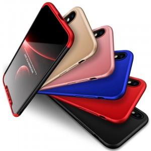 "GKK LikGus 360° | Двухсторонний чехол для Apple iPhone X (5.8"") с защитными вставками"