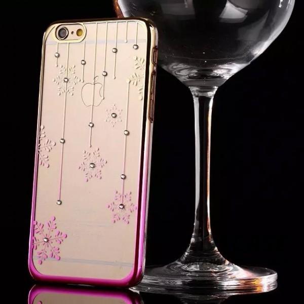 Пластиковая накладка Nice со стразами для Apple iPhone 6/6s (4.7) (Снежинки / золотой / розовый)Описание:производитель: Epik;совместимость: смартфон Apple iPhone 6/6s (4.7);материал: пластик;тип изделия: накладка.Особенности:оригинальный дизайн;украшен стразами;не деформируется;механизм легкой фиксации;легкая очистка.<br><br>Тип: Чехол<br>Бренд: Epik<br>Материал: TPU