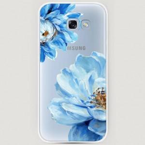 RosCase | Силиконовый чехол Голубые клематисы на Samsung A520 Galaxy A5 (2017) для Samsung Galaxy A5 2017 (A520F)