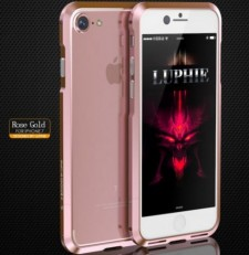 "фото Rose Gold Rose Gold прочный алюминиевый бампер LUPHIE Sword для Apple iPhone 7 / 8 (4.7"") ( one color)"
