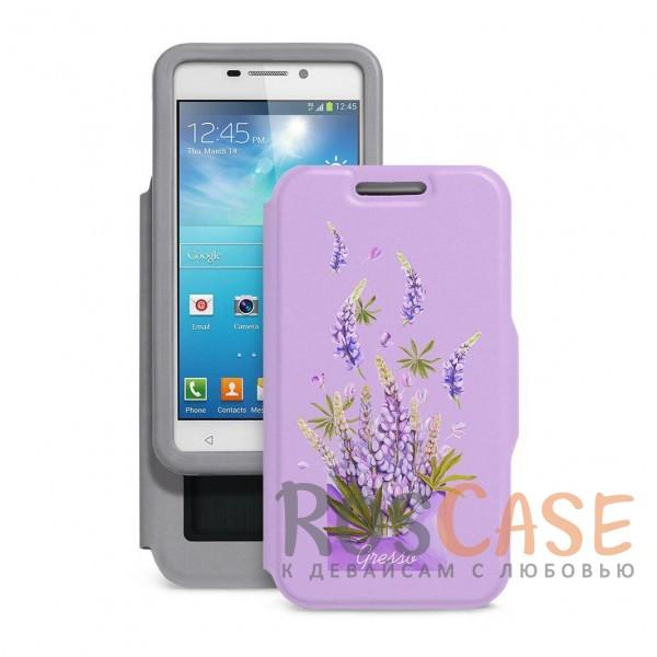 Универсальный женский чехол-книжка Gresso с принтом цветка Признание люпин для смартфона с диагональю 4,9-5,2 дюйма (Лаванда)Описание:совместимость -&amp;nbsp;смартфоны с диагональю&amp;nbsp;4,9-5,2&amp;nbsp;дюйма;материал - искусственная кожа;тип - чехол-книжка;предусмотрены все необходимые вырезы;защищает девайс со всех сторон;цветочный рисунок;ВНИМАНИЕ:&amp;nbsp;убедитесь, что ваша модель устройства находится в пределах максимального размера чехла.&amp;nbsp;Размеры чехла: 142*75 мм.<br><br>Тип: Чехол<br>Бренд: Gresso<br>Материал: Искусственная кожа