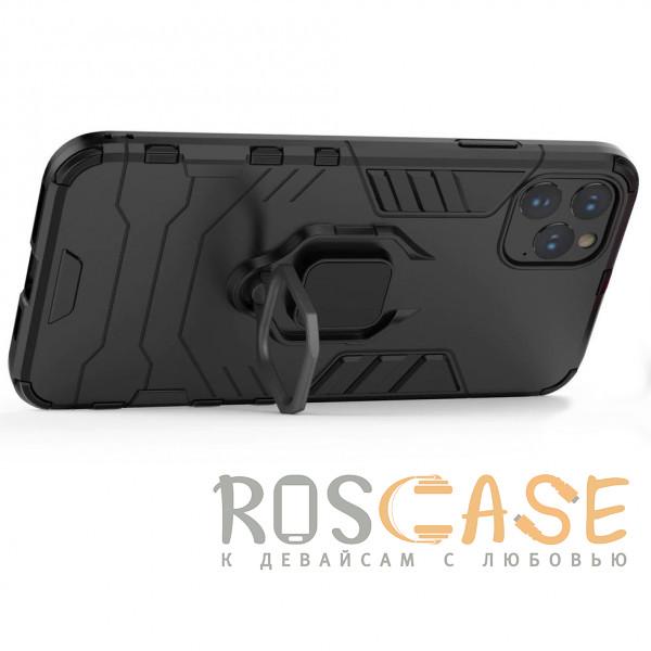 Изображение Черный Transformer Ring   Противоударный чехол под магнитный держатель для iPhone 12 Pro Max
