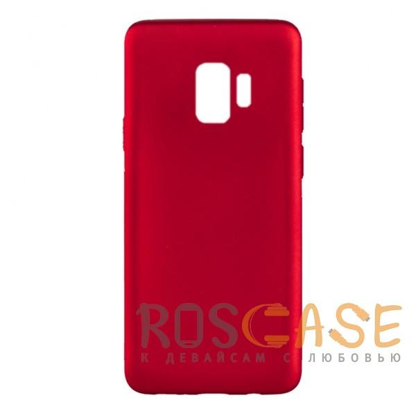 Фото Красный J-Case THIN | Гибкий силиконовый чехол для Samsung Galaxy S9