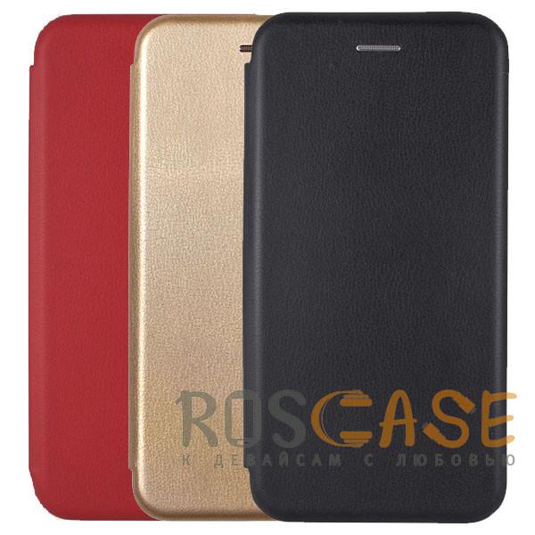 Фото Open Color | Кожаный чехол-книжка для Huawei P40 с функцией подставки и магнитом