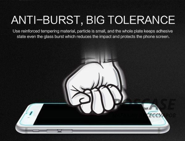 фото защитное стекло Nillkin Anti-Explosion Glass Screen (H+) для Apple iPhone 6 plus (5.5