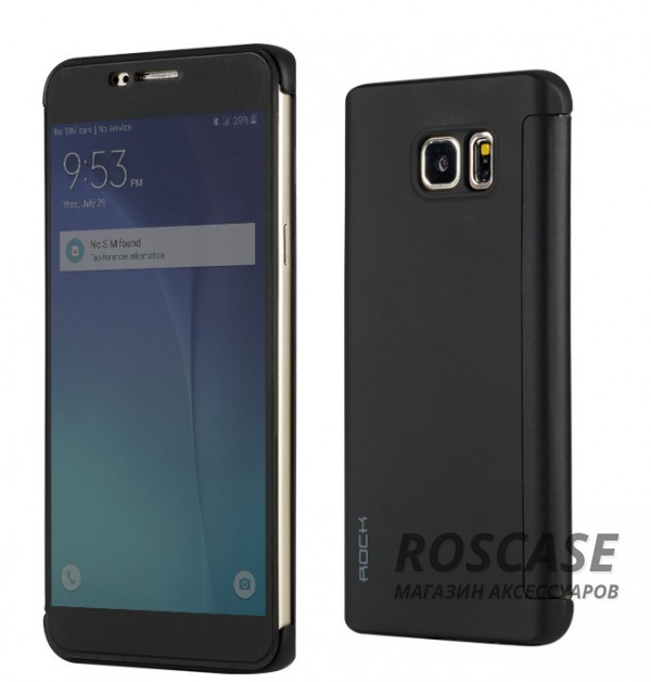 фото Черный / Black Чехол (книжка) Rock DR.V Series для Samsung Galaxy Note 5