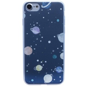 """Силиконовый чехол для Apple iPhone 7 (4.7"""") с принтом космоса"""