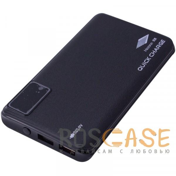 Изображение Черный Mezone Q9 | Портативное зарядное устройство Power Bank с дисплеем (10000mAh QuickCharge QC3.0) (+кабель MicroUSB)