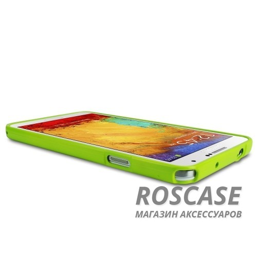 фото Лайм TPU чехол Mercury Jelly Color series для Samsung N9000/N9002 Galaxy Note 3