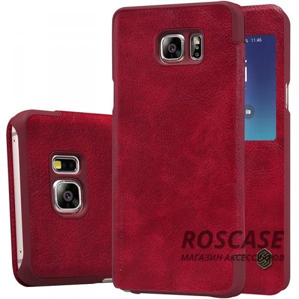 Кожаный чехол (книжка) Nillkin Qin Series для Samsung Galaxy Note 5 (Красный)Описание:производитель:&amp;nbsp;Nillkin;совместим с Samsung Galaxy Note 5;материал: натуральная кожа;тип: чехол-книжка.&amp;nbsp;Особенности:окошко в обложке;ультратонкий;фактурная поверхность;внутренняя отделка микрофиброй.<br><br>Тип: Чехол<br>Бренд: Nillkin<br>Материал: Натуральная кожа