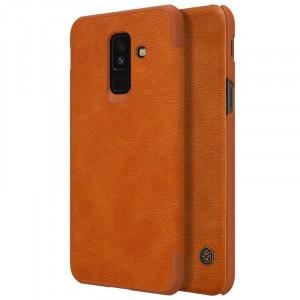 Nillkin Qin натур. кожа | Чехол-книжка для Samsung Galaxy A6 Plus (2018)