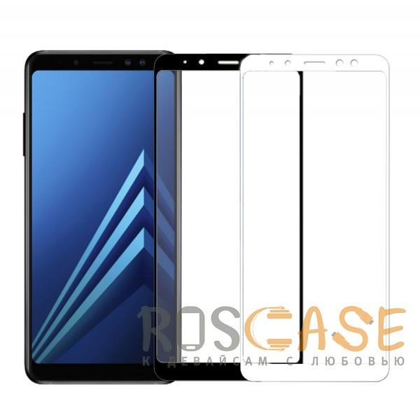 Фото 5D защитное стекло для Samsung A730 Galaxy A8+ (2018) на весь экран