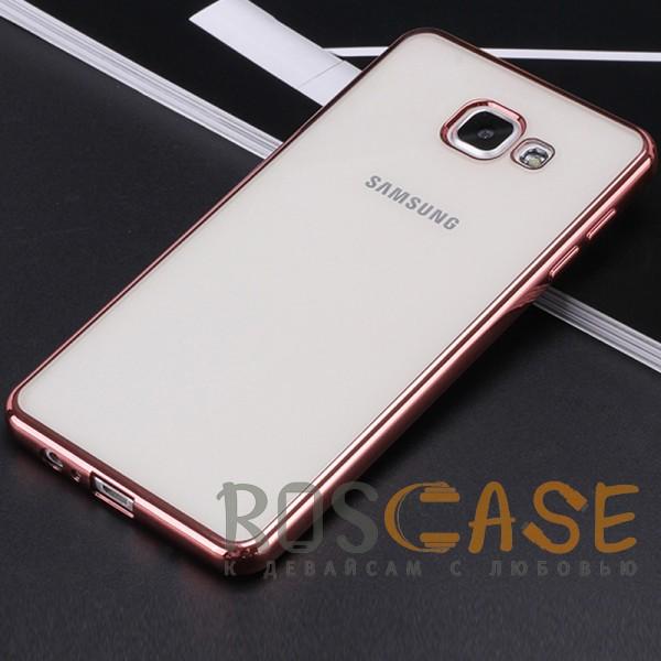 Фото Розовый Силиконовый чехол для Samsung A520 Galaxy A5 (2017) с глянцевой окантовкой