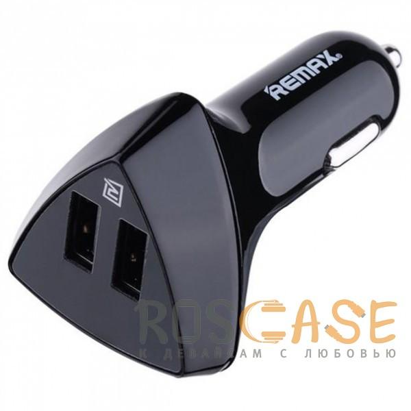 Фото Черный REMAX RCC208 Aliens | Автомобильное зарядное устройство на 2USB с дисплеем напряжения (3.4A)