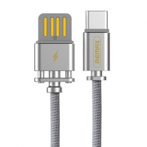 Remax RC-064a | Дата кабель в тканевой оплетке и металлическим разъёмом USB to Type-C (100см) для Apple iPad Pro 9.7