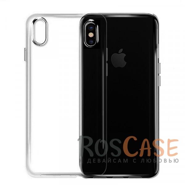 Ультратонкий силиконовый чехол для Apple iPhone X (5.8) (Бесцветный (прозрачный))Описание:совместим с Apple iPhone X (5.8);ультратонкий дизайн;материал - TPU;тип - накладка;прозрачный;защищает от ударов и царапин;гибкий.<br><br>Тип: Чехол<br>Бренд: Epik<br>Материал: Силикон