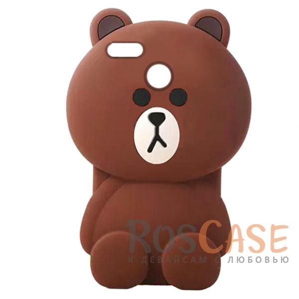 Фото Большой силиконовый чехол-игрушка медведь Тедди для Xiaomi Mi 5X / Mi A1