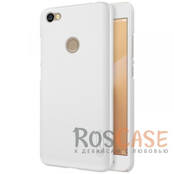 Матовый чехол для Xiaomi Redmi Note 5A Prime / Redmi  Y1 (+ пленка) (Белый)Описание:бренд&amp;nbsp;Nillkin;совместимость: Xiaomi Redmi Note 5A Prime / Redmi  Y1;материал: поликарбонат;тип: накладка;закрывает заднюю панель и боковые грани;защищает от ударов и царапин;рельефная фактура;не скользит в руках;ультратонкий дизайн;защитная плёнка на экран в комплекте.<br><br>Тип: Чехол<br>Бренд: Nillkin<br>Материал: Поликарбонат
