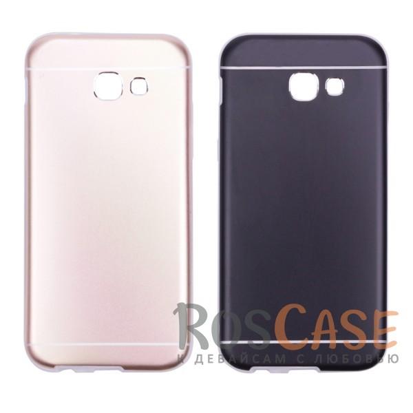 Тонкий двухслойный алюминиевый чехол с хромированными вставками и защитой кнопок для Samsung A520 Galaxy A5 (2017)Описание:разработан для Samsung A520 Galaxy A5 (2017);материалы - металл, термополиуретан;двухслойная конструкция;матовый на ощупь;на нем не заметны отпечатки пальцев;тип - накладка;предусмотрены все необходимые вырезы.<br><br>Тип: Чехол<br>Бренд: Epik<br>Материал: Металл