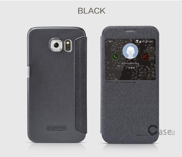 Кожаный чехол (книжка) Nillkin Sparkle Series для Samsung Galaxy S6 G920F/G920D Duos (Черный)Описание:бренд -&amp;nbsp;Nillkin;совместим с Samsung Galaxy S6 G920F/G920D Duos;материал: кожзам;тип: чехол-книжка.Особенности:защита от механических повреждений;не скользит в руках;интерактивное окошко;функция Sleep mode;не выгорает;тонкий дизайн.<br><br>Тип: Чехол<br>Бренд: Nillkin<br>Материал: Натуральная кожа