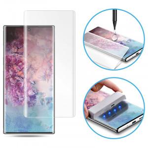Защитное 3D стекло Nanoscarle Light full glue c УФ лампой для Samsung Galaxy Note 10