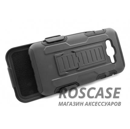 Антиударный чехол с тройной броней PANZER Samsung J500H Galaxy J5 с креплением на пояс и подставкой (Черный)Описание:совместим с Samsung J500H Galaxy J5;материалы: поликарбонат, силикон;тип: накладка на заднюю панель и на экран.&amp;nbsp;Особенности:ударопрочный;укрепленный корпус;функция подставки;крепление на пояс;защита на экран;имеет хорошее сцепление с поверхностями.<br><br>Тип: Чехол<br>Бренд: Epik<br>Материал: Силикон