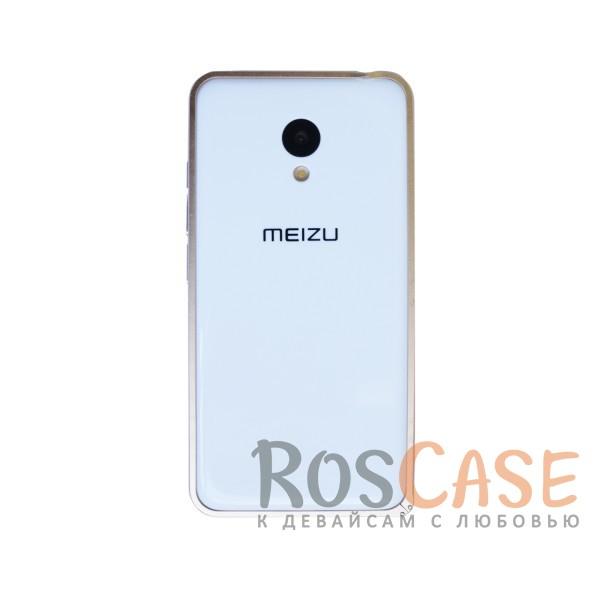 Фото Золотой Металлический бампер для Meizu M3 / M3 mini / M3s на защелке