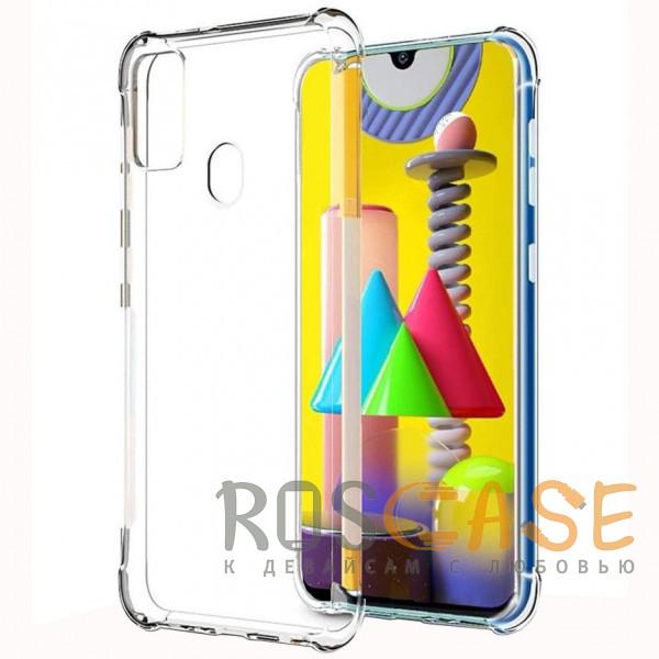 Фото Прозрачный King Kong | Противоударный прозрачный чехол для Samsung Galaxy M31 с защитой углов
