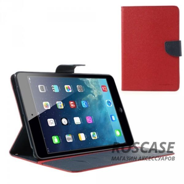 Чехол (книжка) Mercury Fancy Diary series для iPad Mini / iPad Mini Retina/ iPad mini 3 (Красный / Синий)Описание:производитель  -  бренд&amp;nbsp;Mercury;совместим с iPad Mini / iPad Mini Retina/ ipad mini 3;материалы  -  искусственная кожа, термополиуретан;форма  -  чехол-книжка.&amp;nbsp;Особенности:рельефная поверхность;все функциональные вырезы в наличии;внутренние кармашки;магнитная застежка;защита от механических повреждений;трансформируется в подставку.<br><br>Тип: Чехол<br>Бренд: Mercury<br>Материал: Искусственная кожа