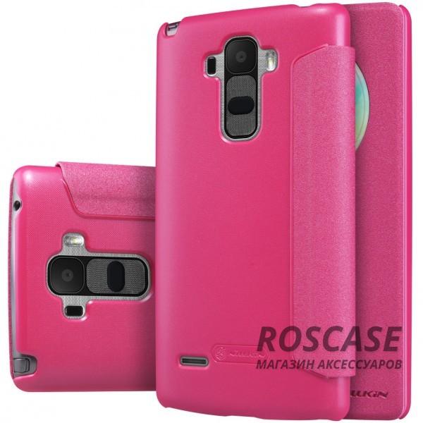 Кожаный чехол (книжка) Nillkin Sparkle Series для LG H540F G4 Stylus Dual (Розовый)Описание:бренд - Nillkin;совместим с&amp;nbsp;LG H540F G4 Stylus Dual;материал - кожзам;тип: книжка.&amp;nbsp;Особенности:функция Sleep mode;окошко в обложке;блестящая поверхность;защита со всех сторон.<br><br>Тип: Чехол<br>Бренд: Nillkin<br>Материал: Натуральная кожа