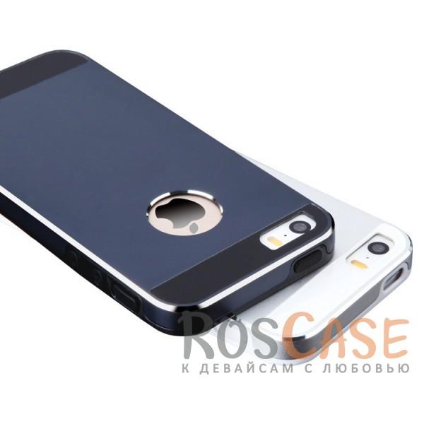 Ультратонкий TPU чехол c металлическими вставками YED для Apple iPhone 5/5S/SE<br><br>Тип: Чехол<br>Бренд: Epik<br>Материал: TPU