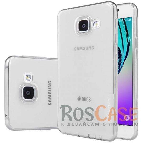 Мягкий прозрачный силиконовый чехол для Samsung A710F Galaxy A7 (2016) (Серый (прозрачный))Описание:производитель  -  бренд&amp;nbsp;Nillkin;совместим с Samsung A710F Galaxy A7 (2016);материал  -  термополиуретан;тип  -  накладка.&amp;nbsp;Особенности:в наличии все вырезы;не скользит в руках;тонкий дизайн;защита от ударов и царапин;прозрачный.<br><br>Тип: Чехол<br>Бренд: Nillkin<br>Материал: TPU