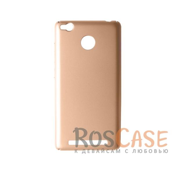 Пластиковая накладка soft-touch с защитой торцов Joyroom для Xiaomi Redmi 3 Pro / Redmi 3s (Золотой)<br><br>Тип: Чехол<br>Бренд: Epik<br>Материал: Пластик