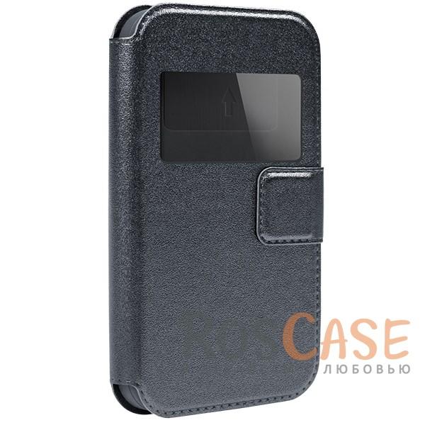 Универсальный чехол-книжка с окошком и магнитом Gresso Норман для смартфона 4.9-5.2 дюймаОписание:бренд -&amp;nbsp;Gresso;совместимость -&amp;nbsp;смартфоны с диагональю 4.9-5.2&amp;nbsp;дюйма;материал - искусственная кожа;тип - чехол-книжка;защищает гаджет со всех сторон;магнитная застежка;окошко в обложке;предусмотрены все функциональные вырезы;ВНИМАНИЕ: убедитесь, что ваша модель устройства находится в пределах максимального размера чехла. Размеры чехла: 14,5*7,5 см.<br><br>Тип: Чехол<br>Бренд: Gresso<br>Материал: Искусственная кожа