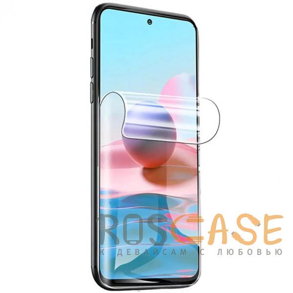 Фото Прозрачная Гидрогелевая защитная плёнка Rock для Xiaomi Redmi Note 10 Pro