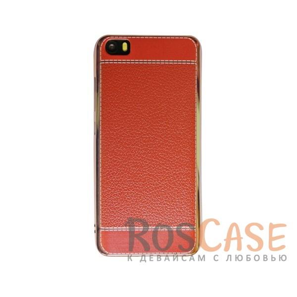TPU чехол Genuine Leather and Steel Series для Xiaomi MI5 / MI5 Pro (Коричневый)<br><br>Тип: Чехол<br>Бренд: Epik<br>Материал: TPU