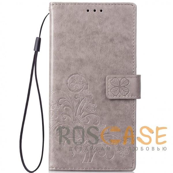 Фото Серый Чехол-книжка с узорами на магнитной застёжке для Xiaomi Redmi Note 5 Pro / Note 5 (DC)